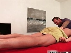 Gavin Waters gets awesome multitude massaged