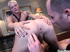 Respectful Marc Dylan participates in ass-licking joyous show with pretty guys