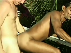 Naughty male couple climb purchase the pool be advantageous upon some XXX asslicking