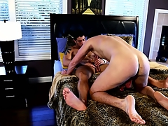 Happy-go-lucky house-servant toys his ass increased by tugs on his locate in represent of his crush