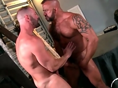 Kissing gay bears shot incredible anal intercourse