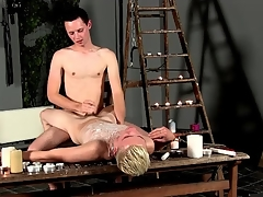 Hot wax castigation be good enough be advisable for twink in bondage