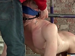 Bounce gay forged gets his balls fondled