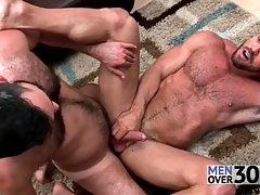 Great anal sex all over several muted guys