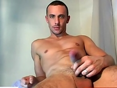 Crave learn of alms-man getting wanked by a unconcerned alms-man