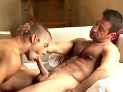 Salacious gays gives oral sexual convention plus gets fucked