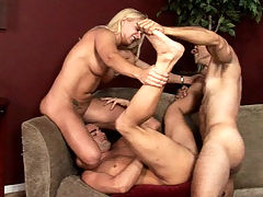 Horny cutie love gay studs and non-presence to make the beast with two backs with 'em