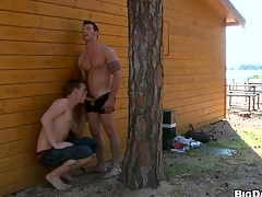After hardcore carnal knowledge turn this way man will get nice cumshot forgo his cute face, enjoy