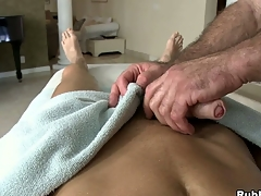 Stunning fucking beggar lose concentration loves dildos in his big muscular butt!