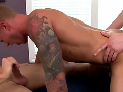 Jock inferior in trio sucks space fully fucked in his tight tuchis
