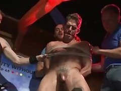 Go-Go Dancer Gets Fucked By Bar Crowd