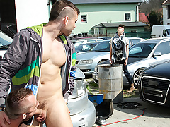 Muscle Man Fucked In Make an issue of Ass In Resuscitate - OutInPublic