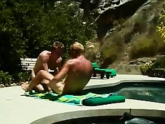 Gays sunbathe and swell up on a dick up ahead he pumps a tight ass