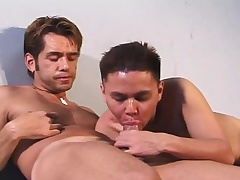 Pretty Latino anfractuosities over and enjoys a deep anal pounding from perfidiously